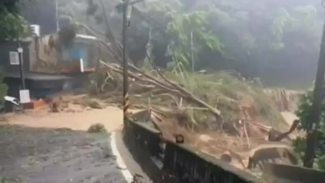 سیل در تایوان با 4 نفر کشته و 64 نفر مفقود شده