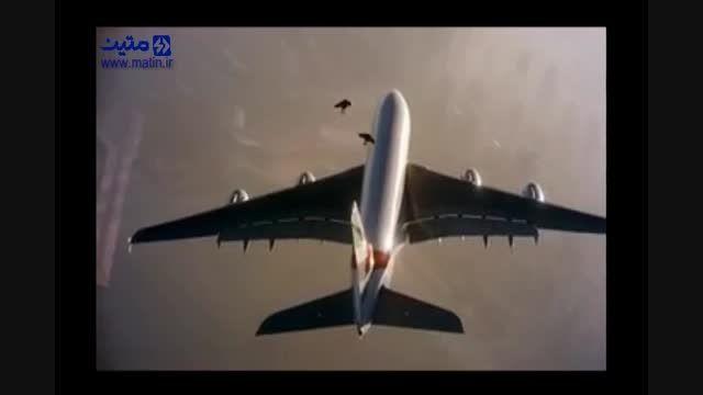 پرواز با جت پک برفراز ایرباس A-380 هواپیمایی امارات