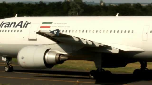 لندینگ و تیک اف A300-600 ایران ایر EP-IBB در Ferihegy