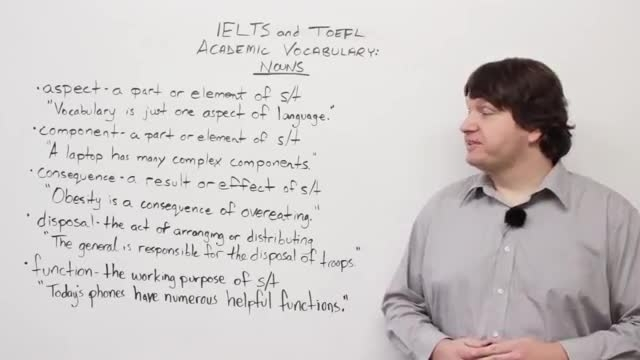 IELTS and TOEFL Academic Vocabulary