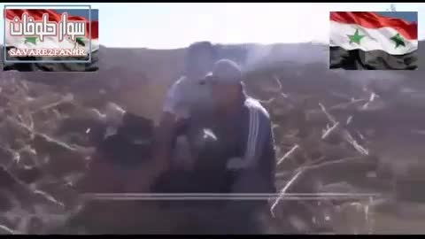 کشته شدن تروریست ناشی داعش توسط تک تیرانداز ارتش سوریه!