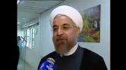 عیادت رئیس جمهور از رهبر انقلاب پس از انجام عمل جراحی