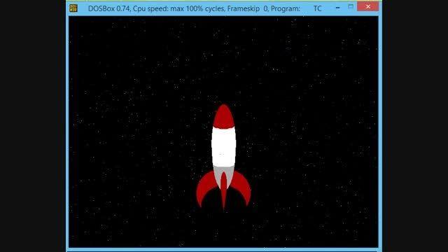 پروژه سی پلاس پلاس c++ فضاپیما متحرک پویا