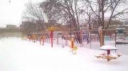 برف بهاری در مرند