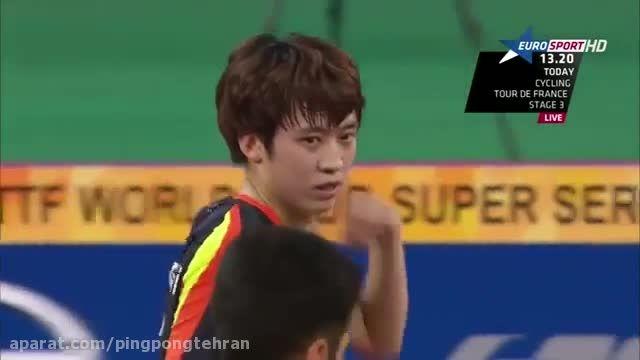 مسابقه فینال اوپن پینگ پنگ کره بین جو سی هیوک و جانگ