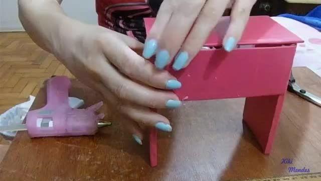 آموزش ساخت میز آرایش برای باربی