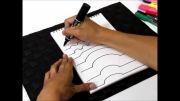 آموزش کشیدن نقاشی سه بعدی (دست)