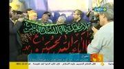 اهتزاز پرچم حرم حضرت ابوالفضل (ع) در گنبد آسمان