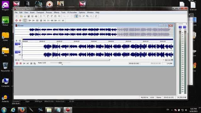 آموزش نرم افزار Sound Forge Pro 11.0 - حذف نویز Noise