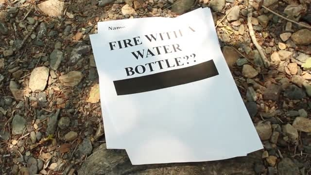 آموزش روشن کردن آتش با قوطی آب معدنی