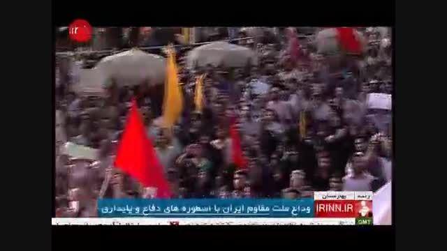 مراسم تشیع پیکر 270 شهید غواص در تهران