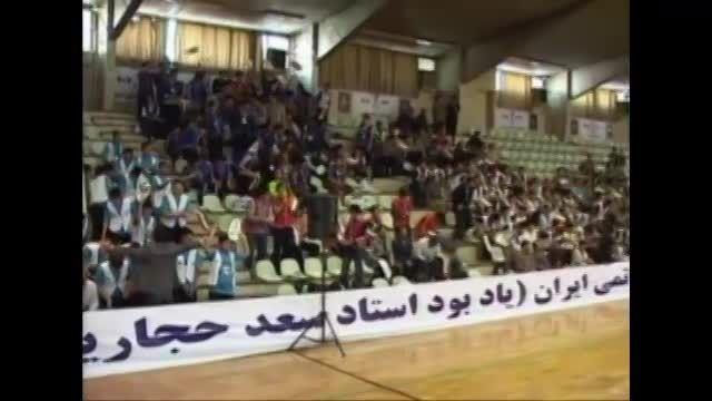 مهندس قنبری ریاست دبیرستان سلام تجریش در جشنواره ورزشی
