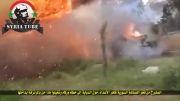 انفجار مهیب تانک تروریست ها و به درک واصل شدن چندین تروریست