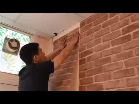 آموزش نصب کاغذ دیواری پشت چسبدار2