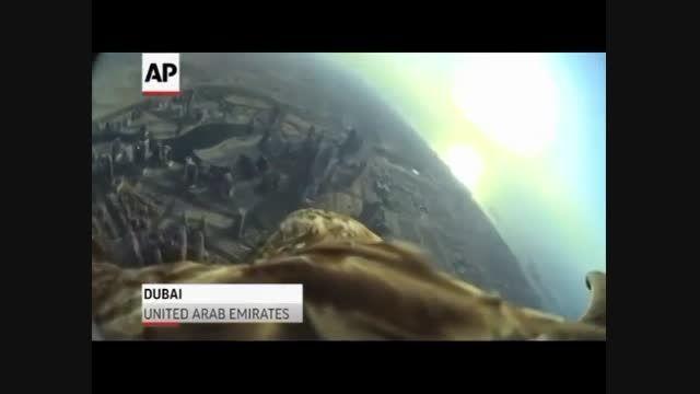 پرواز عقاب از فراز بلندترین ساختمان جهان+فیلم