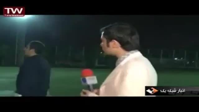 شوخی باعلی عبدالمالکی در فوتبال هنرمندان
