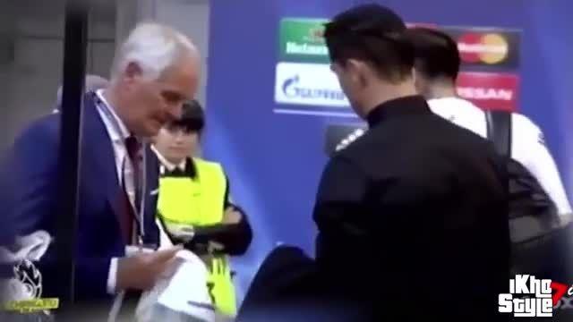 کریستیانو رونالدو پس از بازی با یوونتوس