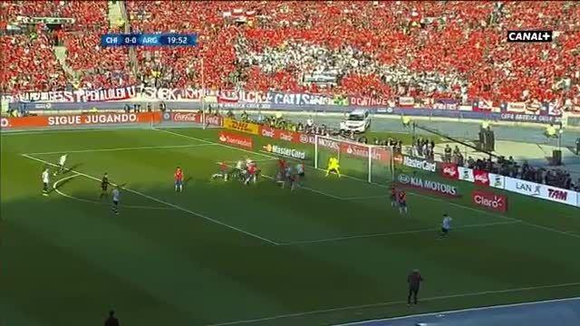 خلاصه بازی : آرژانتین 0 (1) - (4) 0 شیلی {کوپا آمریکا}