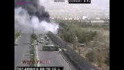 سقوط هواپیمای آنتونوف از قاب دوربین های شهری