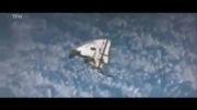 در فضا ماندن شاتل منفجر شده (از دید ایستگاه فضایی)