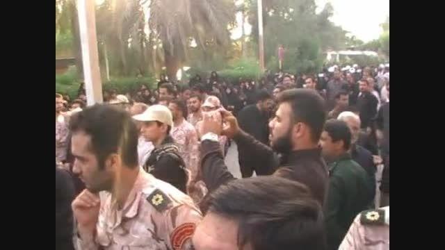 فیلم استقبال و وداع با پیکر سردار شهید حاج فرشاد حسونی