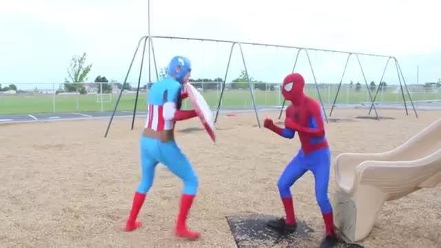 Spiderman vs Captain America