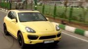 پورشه کاین زرد در تهران-Porsche Cayenne S Yellow -HD 720p
