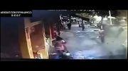انفجار لوله ی گاز در خیابان