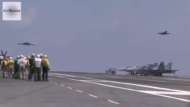 پرواز و فرود پهپاد بدون سرنشین X-47B ازروی ناو