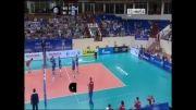 خلاصه ست اول والیبال ایران و روسیه (بازی برگشت - لیگ جهانی)
