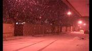 دهاقان بارش برف زمستانی دی 92