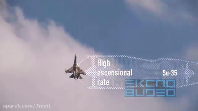 مانور های مبهوت کننده ی Su-35S