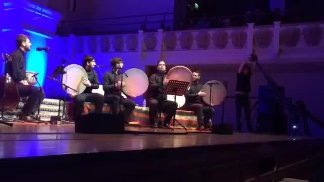 محمد جابری- دف نوازی گروهی در کنسرت سامی یوسف در لندن
