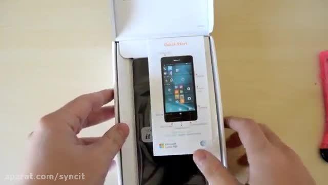 جعبه گشایی: گوشی جدید Lumia 950 مایکروسافت