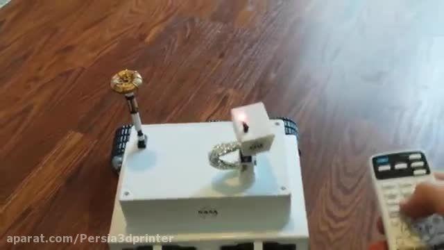 ساخت ماشین کنترلی مریخ پیما با پرینتر سه بعدی