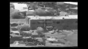 بالگرد آپاچی و شلیك به ساختمان استقرار تك تیر اندازان عراقی