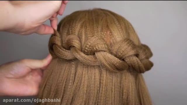 بافت موی بسیار ساده و زیبا
