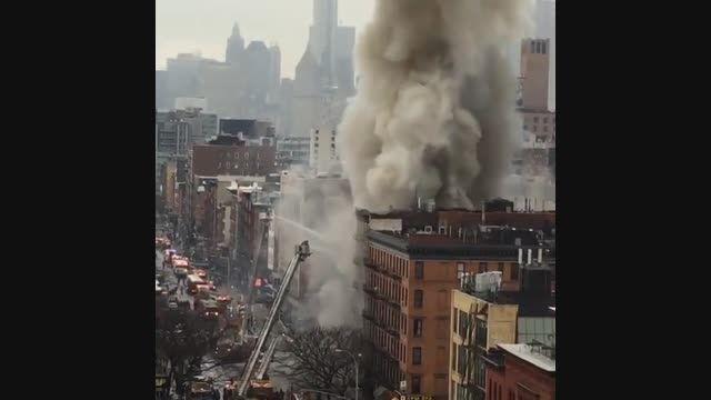 آتش سوزی مهیب در نیویورک !