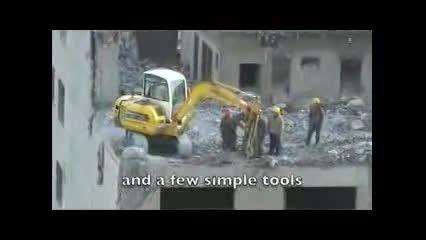 رعایت اصول ایمنی این بار از نوع چینی در تخریب ساختمان