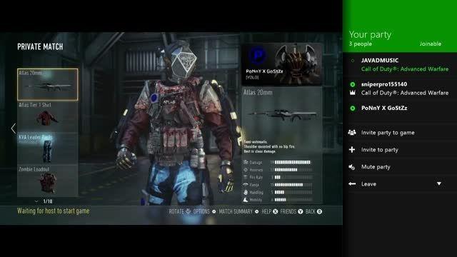 Advanced Warfare Sniper party Voice  With Mors Sniper