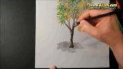 نقاشی درخت انبه - هایپر ریالیستیک - سه بعدی