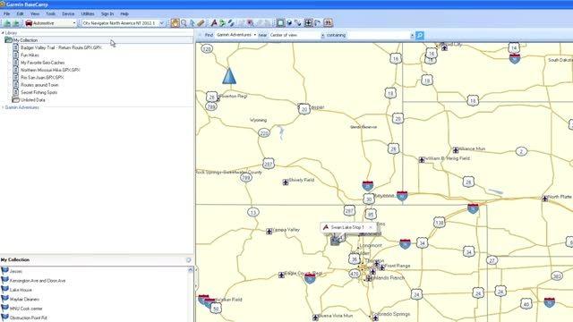 نرم افزار Basecamp گارمین برای سازماندهی اطلاعات GPS