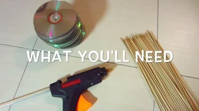 درست کردن دکور برای دیوار با استفاده از سی دی ها