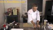 تزئینات شکلاتی با کاغذهای طرحدار Chocolate Garnishes