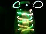 نحوه روشن شدن بند كفش نورانی 3 رنگ