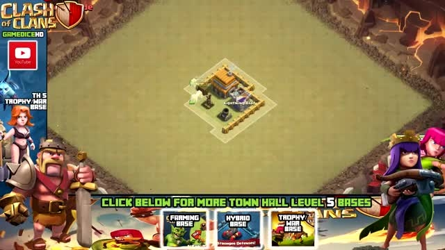 base town hall **5** clash of clans(war)M