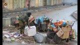 مخفی شدن سربازان صهیونیست در سطل آشغال از ترس جوانان فلسطینی