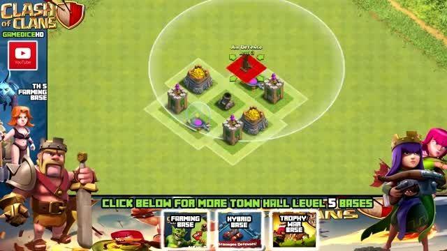 بهترین نقشه Town Hall 5 بازی Clash of Clans