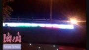 نور پردازی کنار پل-lighting bridge