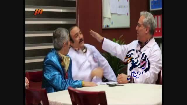 عذرخواهی مهران مدیری در پشت صحنه از مهران غفوریان